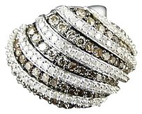 Other Ladies,Womens,White,Gold,Brown,Brown,17,Mm,Diamond,Wedding,Band,Ring,1.40,Ct
