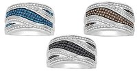 Mother,Day,Silver,Blue,Or,Black,Or,Brown,Fashion,Diamond,Ring,Band,13,Ct