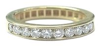 Other Fine Round Cut Diamond Half Circle Yellow Gold Band Ring .50ct