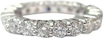 Fine,14kt,Eternity,Round,Brilliant,Diamond,Band,Ring,White,Gold,Size,6