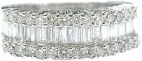 Fine Multi Shape Diamond White Gold Band Ring 1.14ct