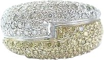Other Fine,Round,Cut,White,Yellow,Diamond,White,Gold,Bypass,Ring,1.08ct