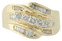 Other Diamond Bypass Ring - 14k Yellow Gold Round Cut 1.00ctw