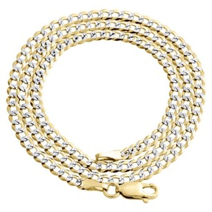 Other Real 10k Yellow Gold Solid Diamond Cut Cuban Link Chain 3.75mm Necklace 16-30