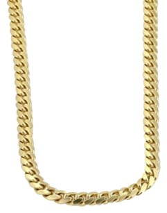 14k Yellow Gold 5mm Wide Curb Chain Link Necklace 24 Long