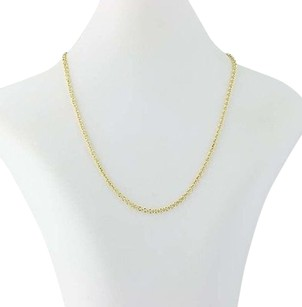 Cable Chain Necklace 16 - 18k Yellow Gold Lobster Claw Clasp Womens