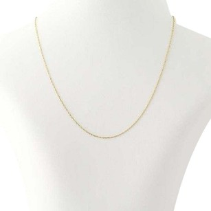 Other Twist Cable Chain Necklace - 14k Yellow Gold 15.5 0.9mm Spring Ring Clasp
