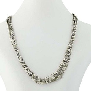 Liquid Silver Necklace - Sterling Silver Multi-strand 17.75 Lobster Clasp