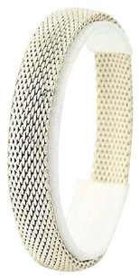 Other Mesh Chain Bangle Bracelet - Sterling Silver Slide On Chunky 8.5 11.9mm
