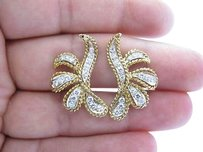 Other Fine,14kt,Diamond,Two,Tone,Earrings,Yellow,Gold,1.20ct