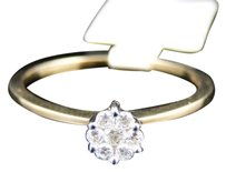 Other 10k,Ladies,Yellow,Gold,Round,Cut,Diamond,Flower,Cluster,Engagement,Wedding,Ring