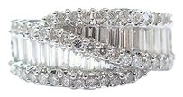 18kt,Round,Baguette,Diamond,Multi,Shape,Cluster,Ring,White,Gold,2.00ct,F