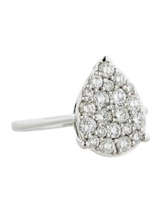 Glk 14k White Gold 1.00ct Diamond Teardrop Ring