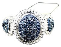 10k,Ladies,Bluewhite,Diamond,Fashion,Dome,Pave,Ring