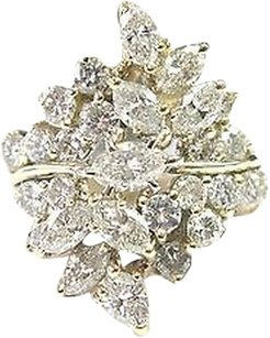 Fine Multi Shape Diamond Cocktail Jewelry Ring Yg 2.52ct