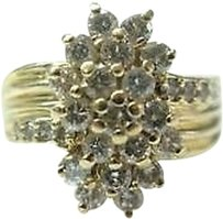 Fine,Cocktail,Diamond,Yellow,Gold,Jewelry,Ring,1.26ct