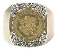 Other Fine,22kt,Coin,Diamond,Yellow,Gold,14kt,Ring,.12ct