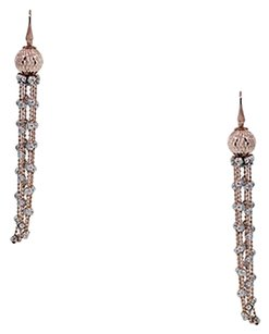 Officina Bernardi 18k Rose Gold Moon Cut Tassel Earrings