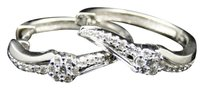 10k,Ladies,Womens,White,Gold,Round,Cut,Diamond,Hoops,Huggies,Earrings,20mm,.28ct