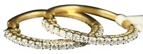 14k,Ladies,Yellow,Gold,Diamond,Hoops,Earrings,1.27ct