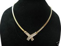 Fine,18kt,Princess,Cut,Diamond,Invisible,X,Necklace