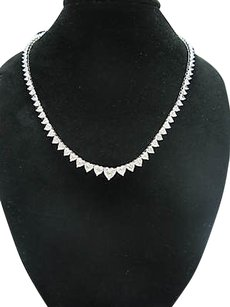 ,24.99ct,Heart,Shape,Diamond,Graduated,Necklace
