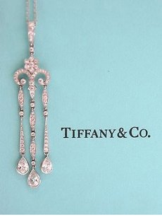 Tiffany,Co,Plat,Legacy,Triple,Bar,Drop,Pendant,2.77ct