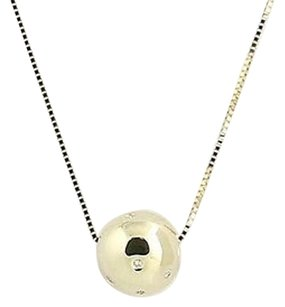 Other Diamond Bead Pendant Necklace 17 34 - 14k Yellow Gold .10ctw