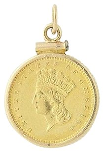 1873 Coin Copy Pendant - 14k Yellow Gold 900 Gold
