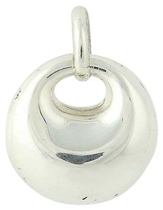 Contemporary Circle Pendant - Sterling Silver Womens Gift