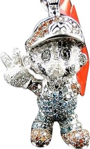 Other 10k,White,Gold,Cartoon,Mario,Multi,Color,Diamond,Pendant,Charm,1.5,Inch