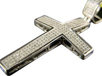 10k,Mens,Ladies,Mini,Diamond,Cross,Charm,Pendant,1.0,Ct