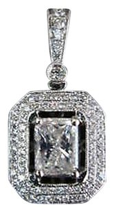 Other Fine,18k,Radiant,Diamond,Designer,Jewelry,Pendant,1.42c