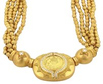 Other Hilat Diamond 24k Gold Ancient Inspired Handcrafted Multistrand Necklace