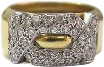 Other Fine,18k,Designer,Diamond,Pave,Ring,Yellow,Gold,1.00ct,