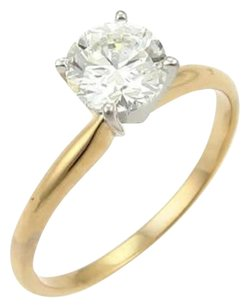 Other Round Cut 1.00ct J Vs1 Solitaire Diamond 14k Gold Engagement Ring Wgia Cert.