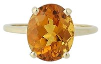 Citrine Ring - 14k Yellow Gold 14 November Solitaire 3.25ct