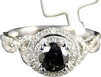 Other 14k,Ladies,White,Gold,Whiteblack,Diamond,Solitaire,Engagementband,Ring,1.0,Ct