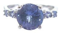 Other Fine Gem Tanzanite Solitaire With Accent White Gold Jewelry Ring 14kt 3.00ct