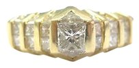 Other 18kt,Multi,Shape,Diamond,Solitaire,W,Accents,Anniversary,Jewelry,Ring,Yg,1.62ct