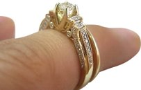 Fine,Ladys,Two,Ring,Diamond,Wedding,Royal,Set,14kt,Yg