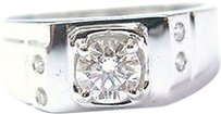 18kt,Mens,Round,Cut,Diamond,White,Gold,Jewelry,Ring,.58ct,F-vvs1
