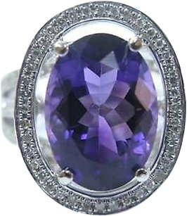 Fine,Amethyst,Diamond,Solitaire,With,Accents,Jewelry,Ring,14kt,6.62ct