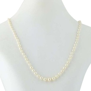 Cultured Pearl Necklace 19 12 - Gold Filled Graduated Knotted Strand