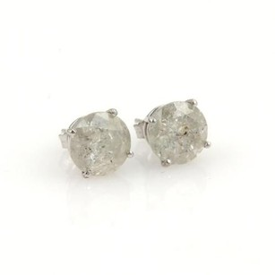 14k White Gold 5.32ct Round Cut Diamond Stud Earrings