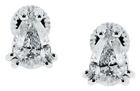 14k White Gold 1ctw Pear Shaped Diamond Stud Earrings