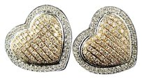 Heart,Pave,Pink,Gold,Diamond,16,Mm,Earrings,1.50,Ct