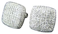 Mens,Ladies,Round,Dome,Diamond,Stud,Earrings,1.75,Ct