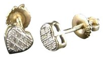 10k,Ladies,Heart,Gold,Mini,5,Mm,Diamond,Stud,Earrings