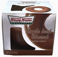 Krispy Kreme Krispy KremeKrispy Kreme Scented Candle - Maple Iced Glazed, 3 Oz Glass Bowl Ribbed - Smell Fresh Baked Donuts